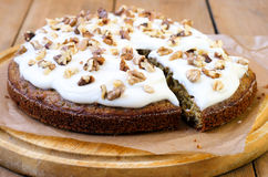 Carrot and courgette cake Stock Photography
