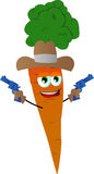 Carrot cowboy with gun Stock Image