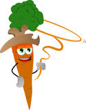 Carrot cowboy with lasso Royalty Free Stock Image