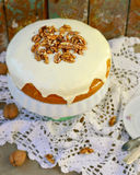 Carrot cream pie from cottage cheese Royalty Free Stock Photos