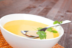 Carrot cream soup. Stock Photography