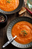 Carrot cream soup Stock Photography