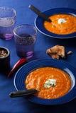 Carrot cream soup Stock Image