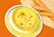 Carrot cream soup Royalty Free Stock Photo