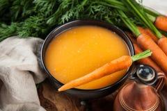 Carrot cream soup Stock Photography