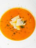 Carrot cream soup Stock Photos