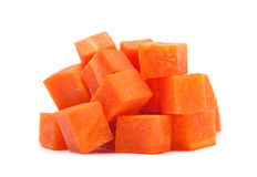 Carrot cube Stock Photo