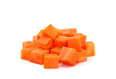 Carrot cube Royalty Free Stock Photo