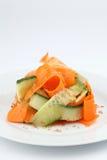 Carrot and cucumber salad Stock Photos