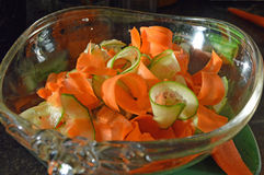 Carrot and cucumber salad Stock Images