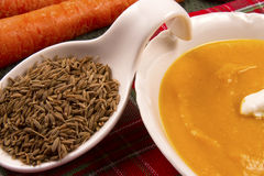 Carrot and Cumin Soup Royalty Free Stock Images
