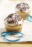 Carrot cup cake Stock Photo