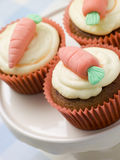 Carrot Cup Cakes royalty free stock images