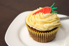 Carrot cupcake Stock Photos