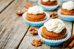 Carrot cupcake Royalty Free Stock Images
