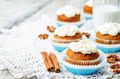 Carrot cupcake Royalty Free Stock Photography