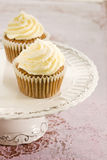Carrot cupcakes Stock Images