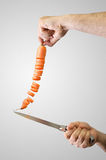 Carrot cut Stock Photography