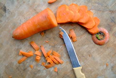 Carrot cut in heart-shaped Royalty Free Stock Photos