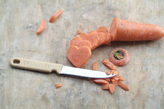 Carrot cut in heart-shaped Stock Image