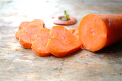 Carrot cut in heart-shaped Royalty Free Stock Image
