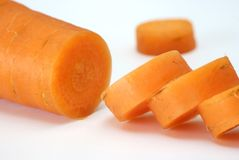 Carrot cut up Royalty Free Stock Photography