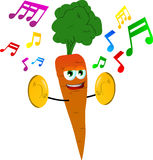 Carrot with cymbals Royalty Free Stock Images