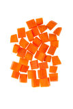 Carrot diced Royalty Free Stock Photography