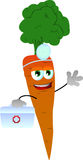 Carrot doctor with first aid kit Royalty Free Stock Photo