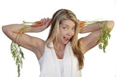 Carrot ears Stock Photos