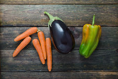 Carrot, Eggplant, Pepper Royalty Free Stock Photo