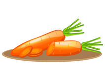 Carrot elements with slices Stock Image