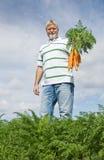 carrot farmer 免版税图库摄影