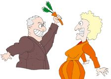 Carrot fight royalty free stock photos