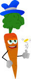 Carrot flipping a coin Stock Images