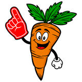 Carrot with Foam Finger Stock Image