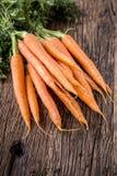 Carrot. Fresh Carrots bunch. Baby carrots. Raw fresh organic orange carrots. Healthy vegan vegetable food Royalty Free Stock Photos