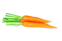 Carrot fresh vegetable group. On white background Stock Photo
