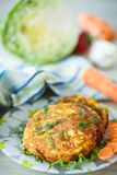 Carrot fritters Stock Images