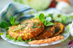 Carrot fritters Stock Image