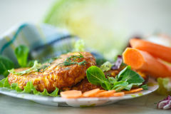 Carrot fritters Stock Photos