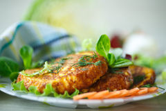 Carrot fritters Royalty Free Stock Photography