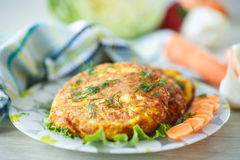 Carrot fritters Royalty Free Stock Images