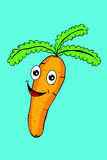 Carrot with Funny Face Royalty Free Stock Photos