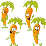 Carrot - funny vector cartoon Stock Image