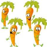 Carrot - funny vector cartoon Stock Image