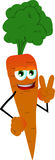 Carrot gesturing the peace sign Royalty Free Stock Photo