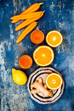 Carrot ginger immune boosting, anti inflammatory smoothie with turmeric and honey. Detox drink. Carrot ginger immune boosting, anti inflammatory smoothie with Stock Photos