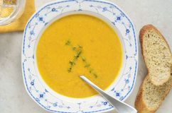 Carrot ginger soup Royalty Free Stock Images