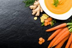 Carrot ginger soup Stock Photos
